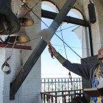 Освящение новых колоколов на звоннице Пречистенской колокольни