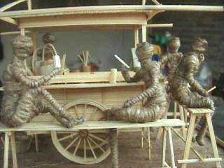 Kerajinan Miniatur Bambu, Kreasi dari Limbah Bambu!!