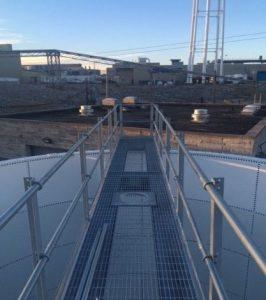 Above ground waste water storage tank