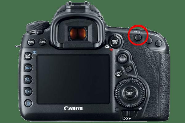 Bouton AF-ON Canon 5D Mark iv
