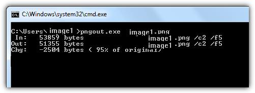 Compresser image PNG avec PngOut