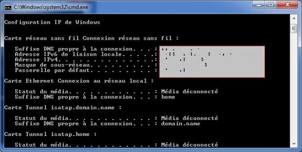 Changer IP avec invite de commande (ipconfig)