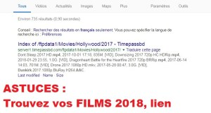 Lien direct des films 2018