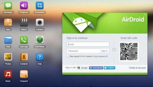Envoyer des SMS avec airDroid