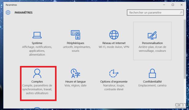 Ajouter compte Windows 10