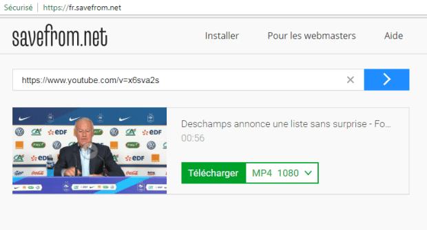 savefrom.net - télécharger vidéo YouTube