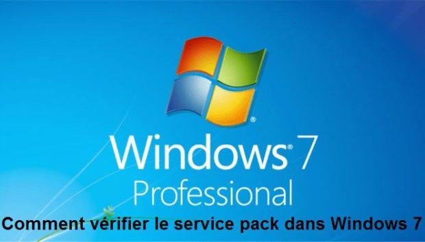 Vérifier service pack Windows 7