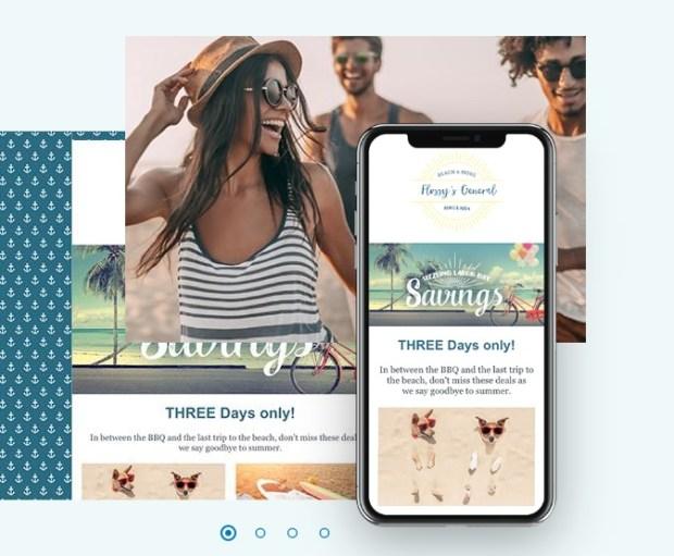 Constant contact - logiciel de création de site web