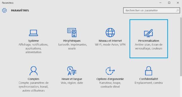 windows-10-parametres-personnalisation
