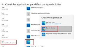 Windows 10 - choisir application par défaut