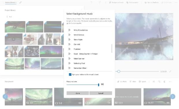 Windows 10 - créer video - ajouter musique