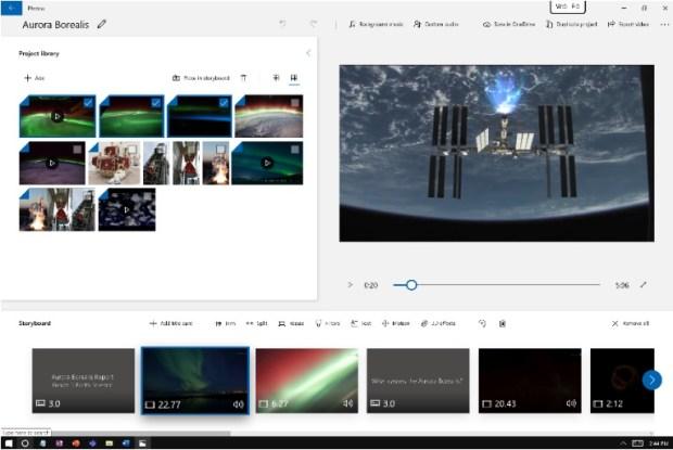Windows 10 - éditeur vidéo