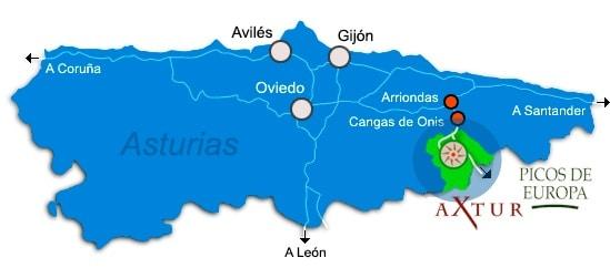 mapa asturias julio - Bosque de Peloño