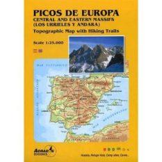 Mapa montañero del Macizo Central Adrados