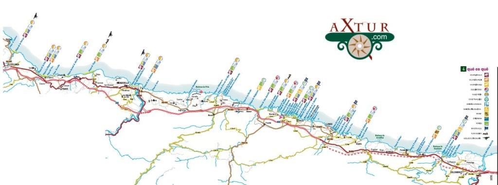 Mapa de Playas de Asturias. Playas de los Picos