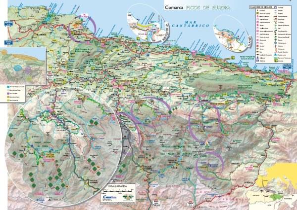 Mapa Guia visual de los Picos de Europa