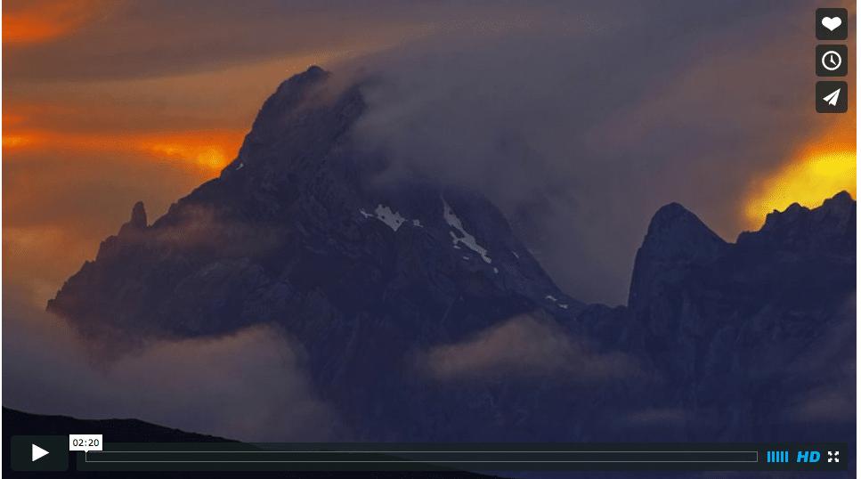 Atardecer en los Picos de Europa