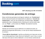 Condiciones Booking.com