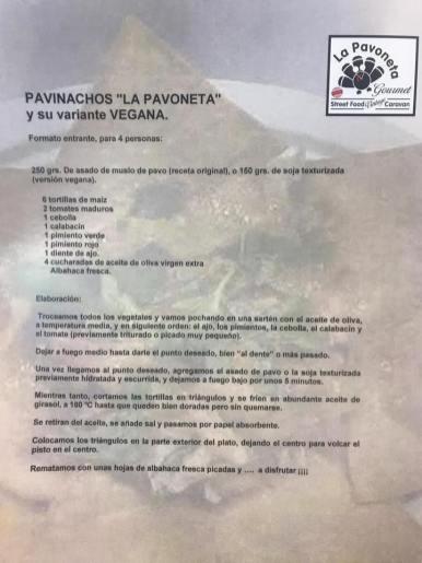 Receta Pavinachos
