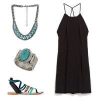 turquoise-and-black-dress-67295
