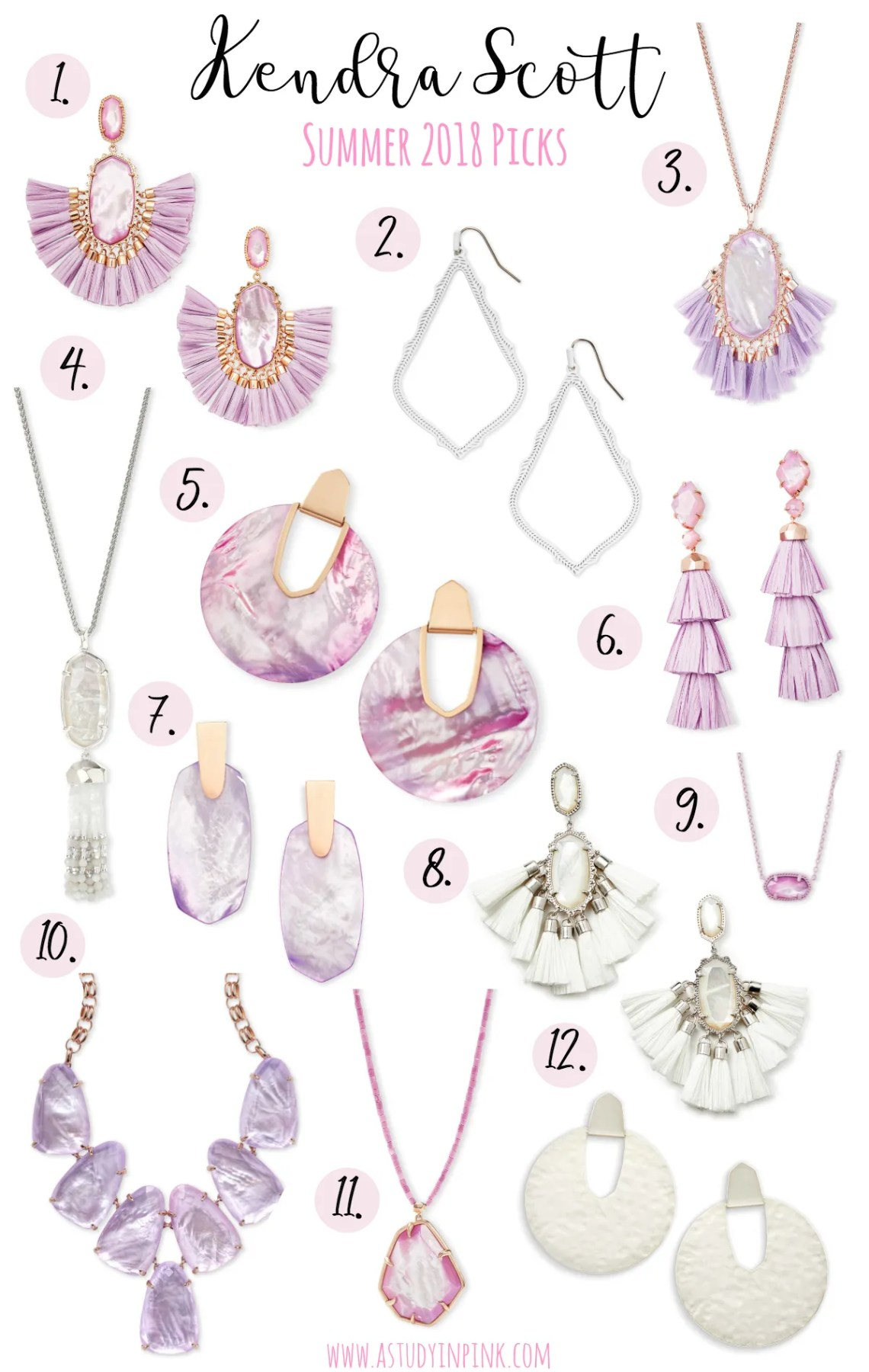 67b87fa04 Cristina Rose Gold Statement Earrings In Lilac Mother Of Pearl – $195. Okay  y'all, these are just so fabulous I can't even handle it. They're feminine,  fun, ...