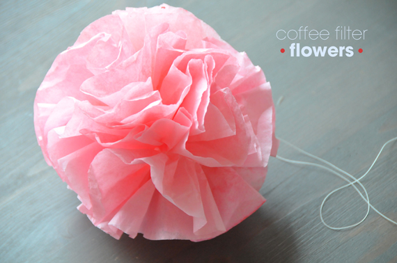Coffee Filter Flowers • A Subtle Revelry