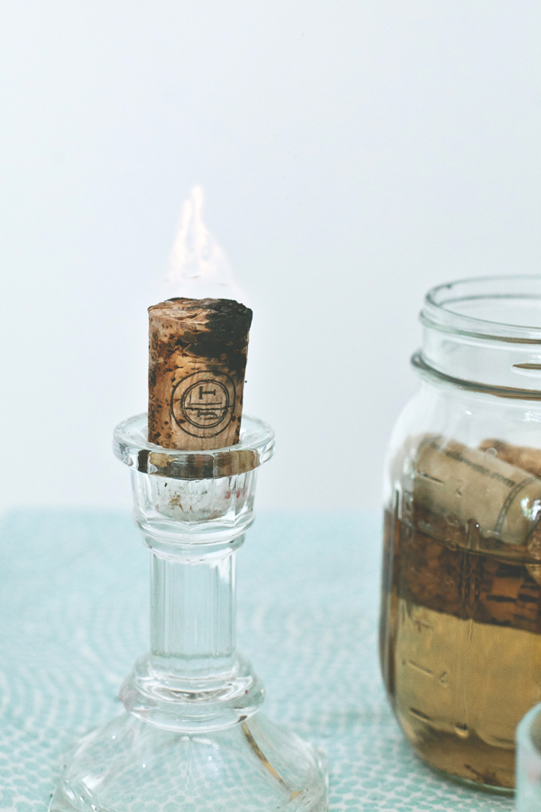 How to turn corks into candles | A Subtle Revelry