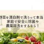 野菜を漂白剤で洗うって本当?家庭で安全に除菌や農薬除去をするなら!
