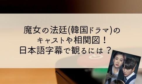 魔女の法廷(韓国ドラマ)のキャストや相関図!日本語字幕の視聴方法は?