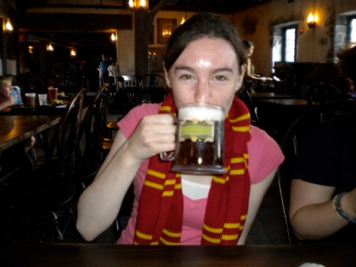 We drank Butterbeer at the 3 Broomsticks