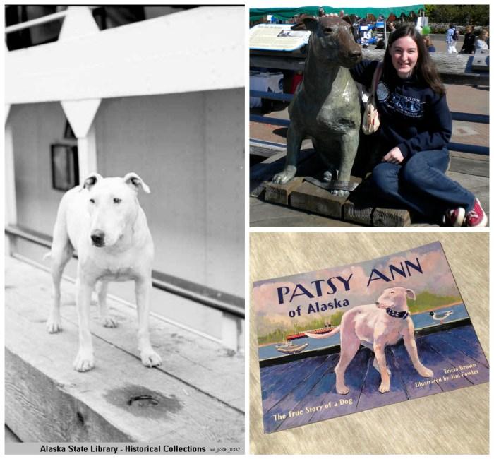 Patsy Ann dog, statue, book