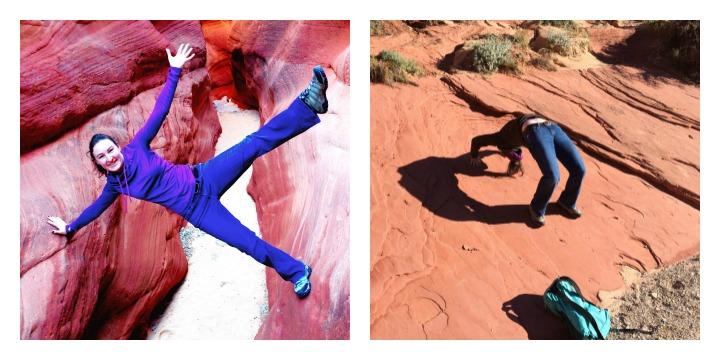 Blogilates in a slot canyon
