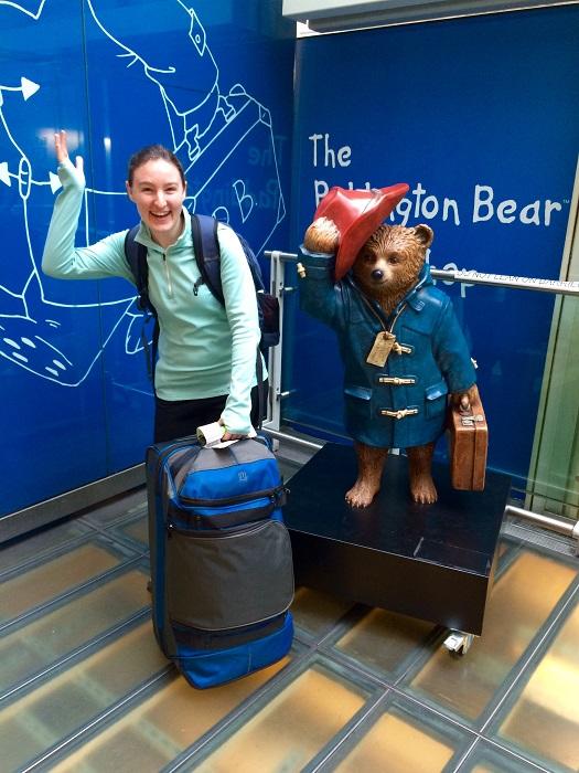 Paddington Bear Statue In Color