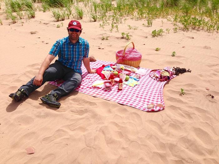 PEI Picnic on the beach