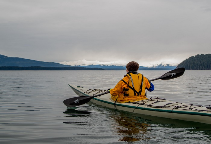 kayaking in the Tongass Rainforest