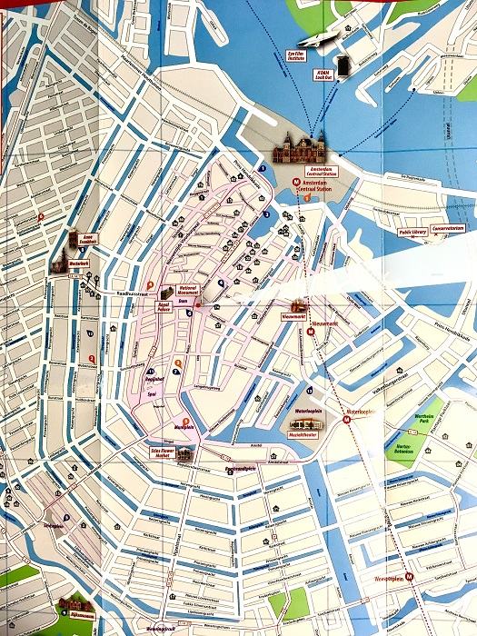 Map of Amsterdam's Canal District