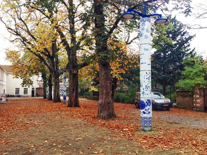 Delft Blue Lamp Posts