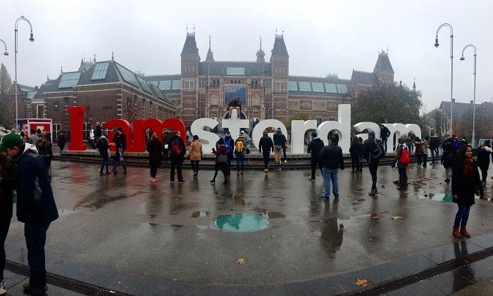 Iamsterdam outside Rijks Museum