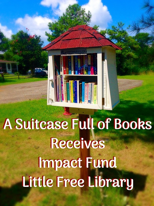 A Suitcase Full of Books Receives Impact Fund Little Free Library