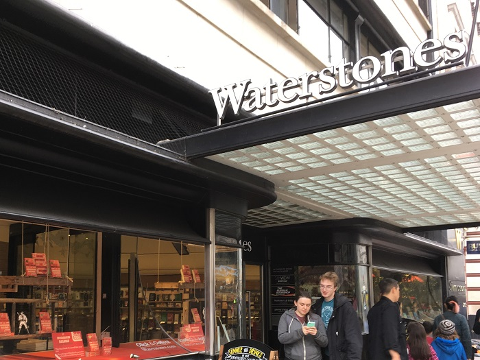 London Literary Sites: Waterstones Bookstore