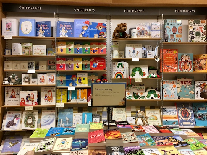 Waterstones Bookstore Childrens Book Display