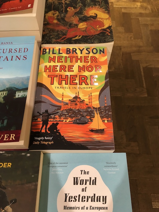 Bill Bryson Book in Waterstones