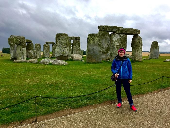Standing near Stonehenge