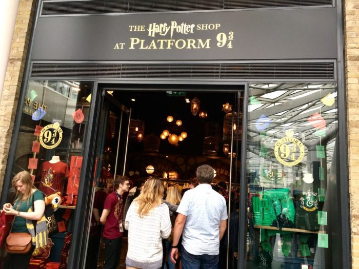 Platform 9 3/4 shop at Kings Cross Station, London