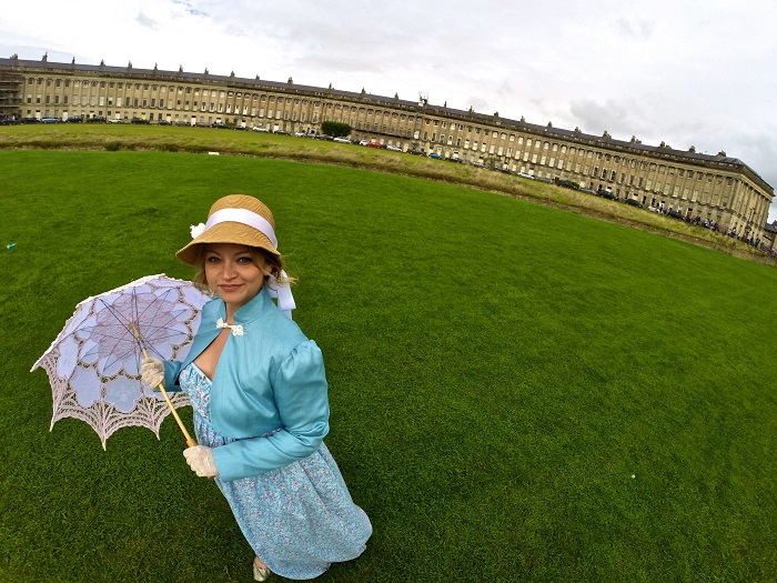 destinations inspired by literature: Bath, UK - the Jane Austen Festival - Angie Away