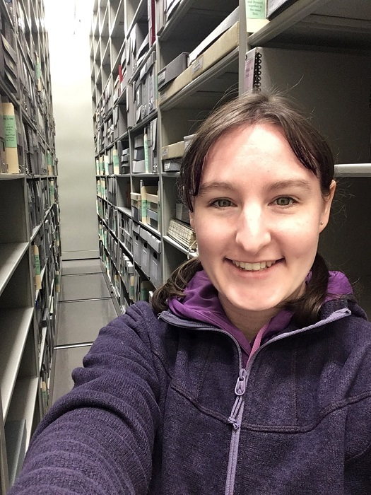 Archivist in the stacks
