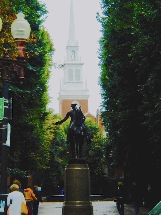 Paul Revere and the Old North Church, Boston