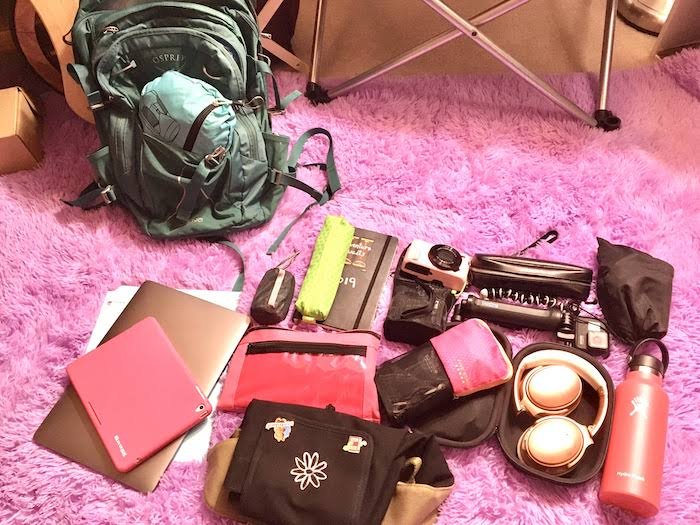 Contents of my backpack