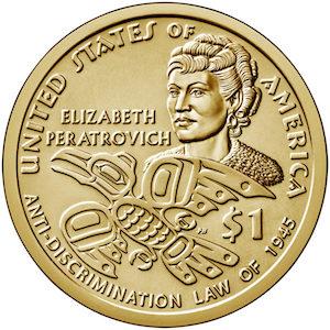Elizabeth Peratrovich $1 USD coin
