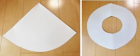 魔女 帽子 型紙